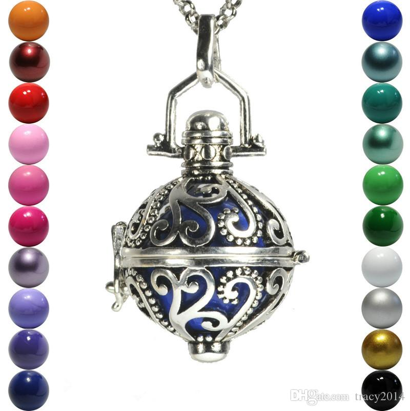 2015 Chimes Pregnancy Ball necklace Mexico Bola ball chain box Bell Necklace pendant Fetal education angel caller necklace 8 style