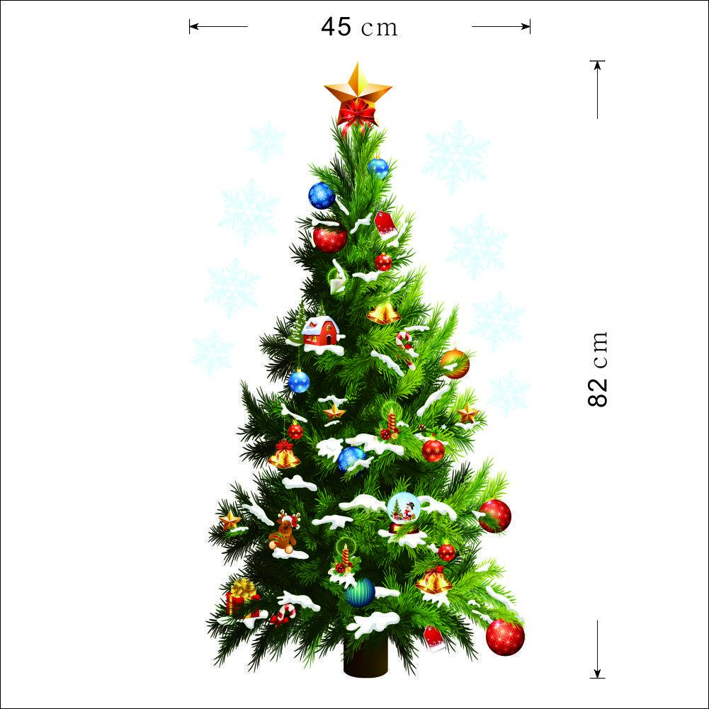 Wall Xmas Decorations 7050cm Simulation Christmas Tree Wall Decals Xmas Decorations