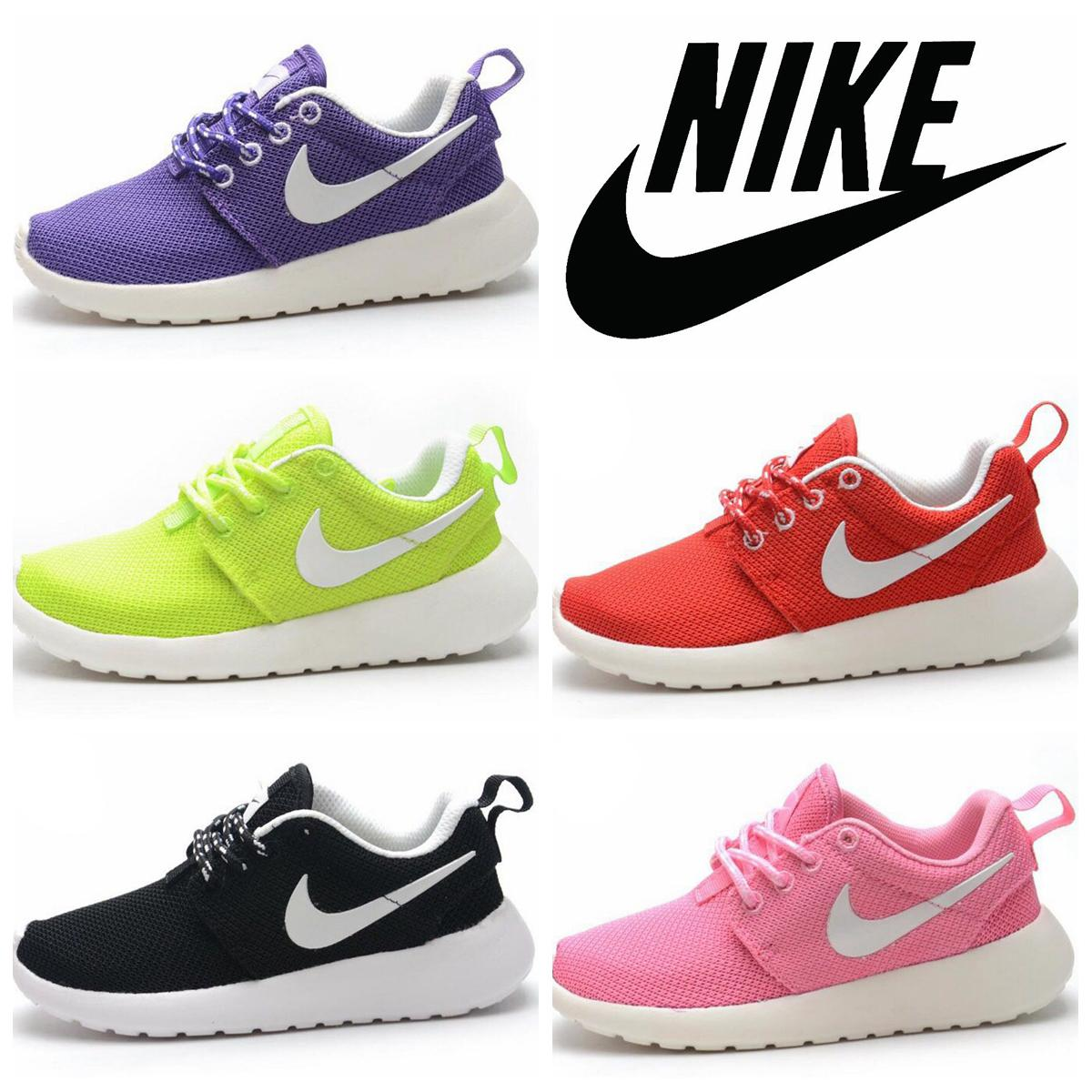 online store d2434 e746a Nike Roshe Run Childrens Athletic Shoes Boys And Girls Running Shoes Kids  Casual Boots Babys Sneakers Sport Shoes Size 9c 3y Kids Footwear Black  Running ...