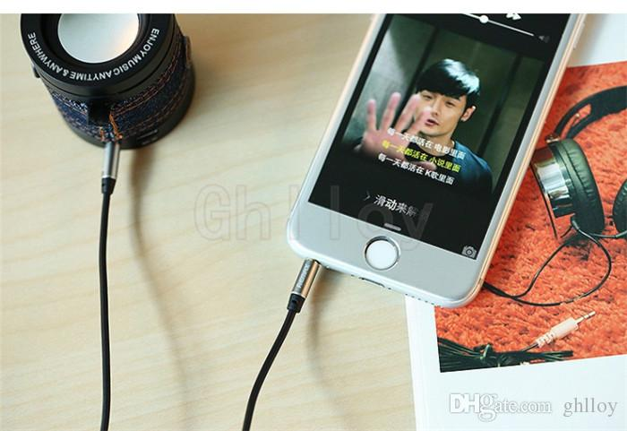 3.5mm Remax AUX Cable 1M 3 pies Macho a Macho Jack para iPhone iPad iPod Auriculares Móviles MP3 Reproductor de CD Cable de Audio