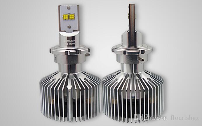 D1 / D2 /D3 /D4 90W LUMILED Headlight Single Beam 9000lm LUXEON MZ CHIPS 4LED Xenon White 6000K 12/24V 45W/Bulb 4500lm H4 H7 LED Kit