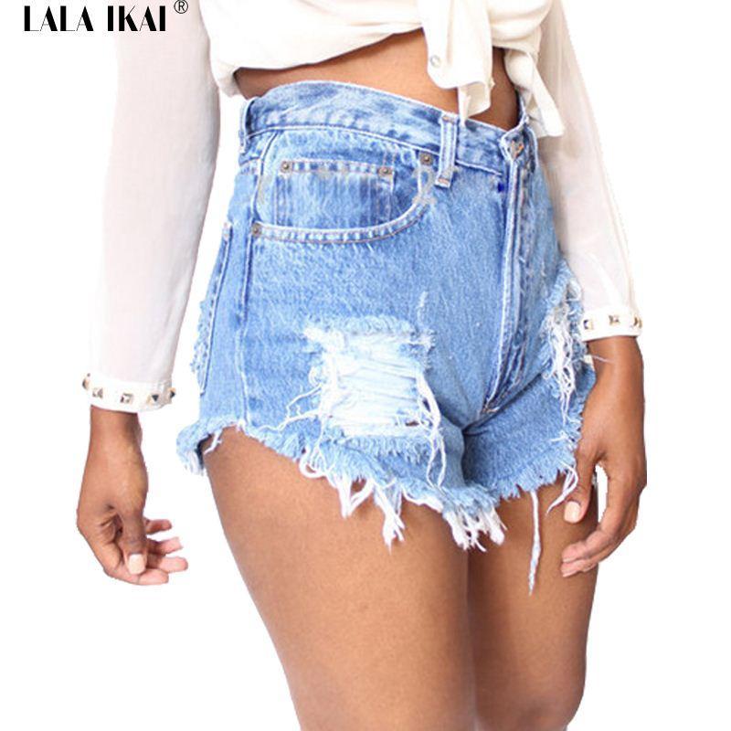 Online Cheap Womans Denim Shorts Ladies Ripped Jeans Handmade ...