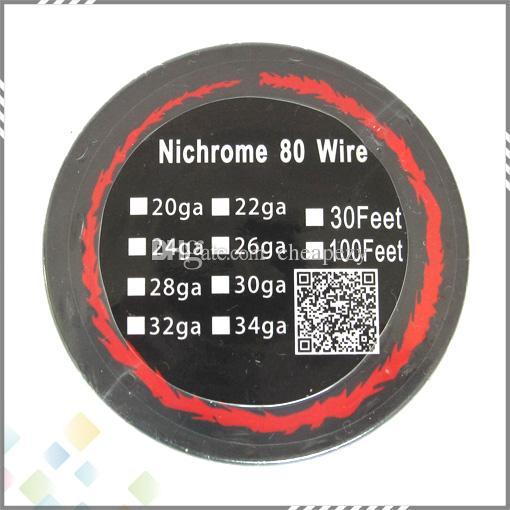 Neues Paket Nichrome 80 Draht 30 Fuß AWG 22 24 26 28 30 32 Gauge für DIY Rebuildable RDA RBA Atomizer DHL geben frei