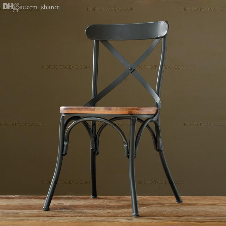 Super Wholesale American Country Wrought Iron Retro Bar Chair / Dining  MH83