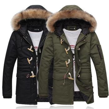 Best Men Winter Down Jacket Keep Warm Lover'S Thick Fur Hood Long ...