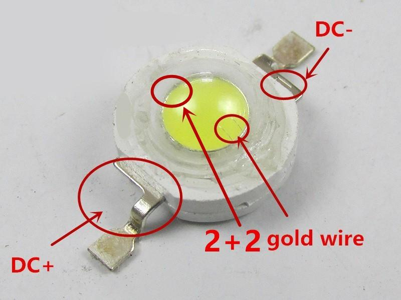 1W LED High Power LED Lamp Beads 100-120LM LED Bulb Lamp Cool White/Warm White Current 300mA Voltage 3.0-3.4V