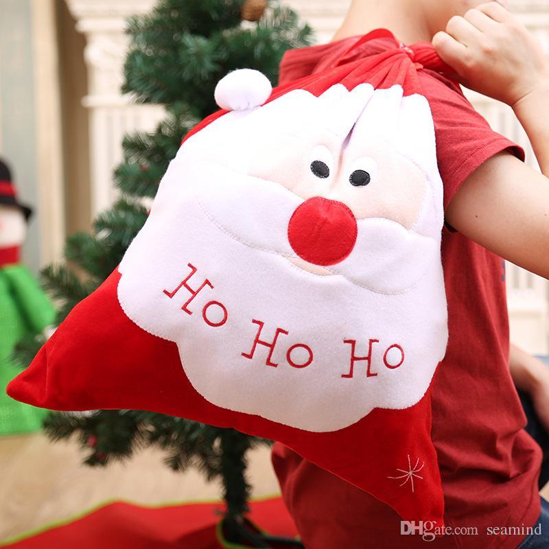 Ho Ho Ho Frohe Weihnachten.Ho Ho Ho Frohe Weihnachten Neujahr Sack Geschenk Geschenke Tasche Weihnachtsbaum Sussigkeiten Taschen Wein Stocking Flasche Geschenk Tasche Weihnachten