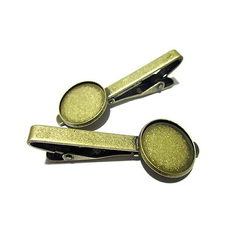 Beadsnice зажим для галстука запчасти латунь ювелирные изделия аксессуары пустой зажим для галстука с 16 мм круглый безель установка ID 23044