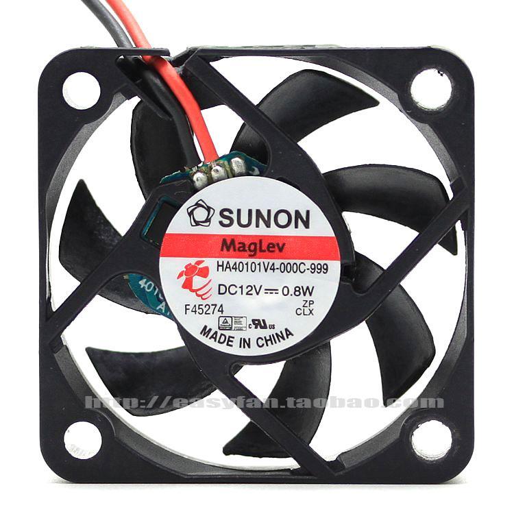 Yeni Orijinal Sunon 40 * 40 * 10 MM 4 CM 12 V 0.8 W HA40101V4-000C-999 manyetik levitasyonunun sessiz fan