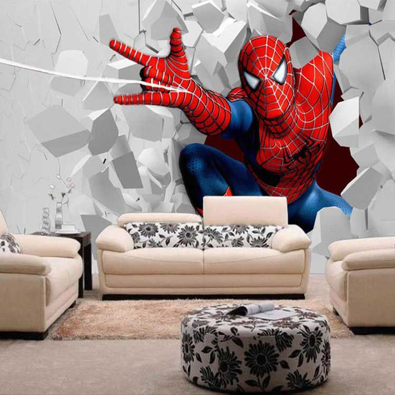 Custom Children Mural Wallpaper Spider Man For Children