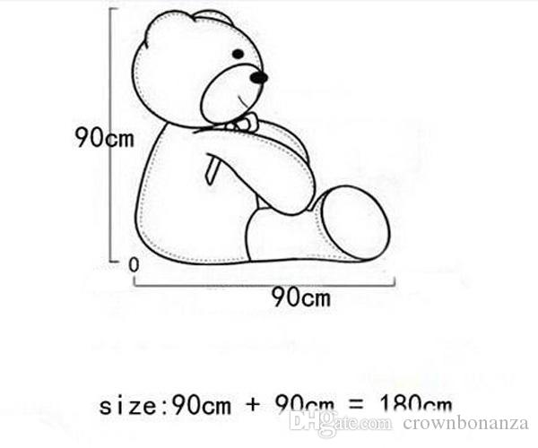 New Arriving Giant 180CM/70''inch TEDDY BEAR PLUSH HUGE SOFT TOY 1.8m Plush Toys Valentine's Day gift/ Birthday gifts /New Year's gift