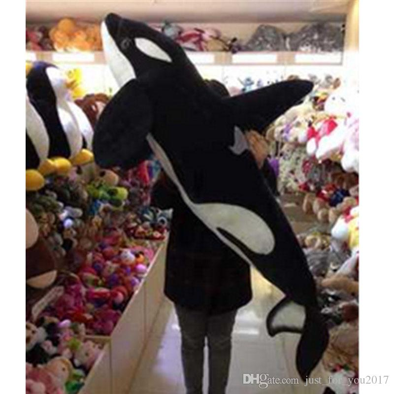 2019 Giant Simulation Animals Killer Whale Plush Toy Big Stuffed