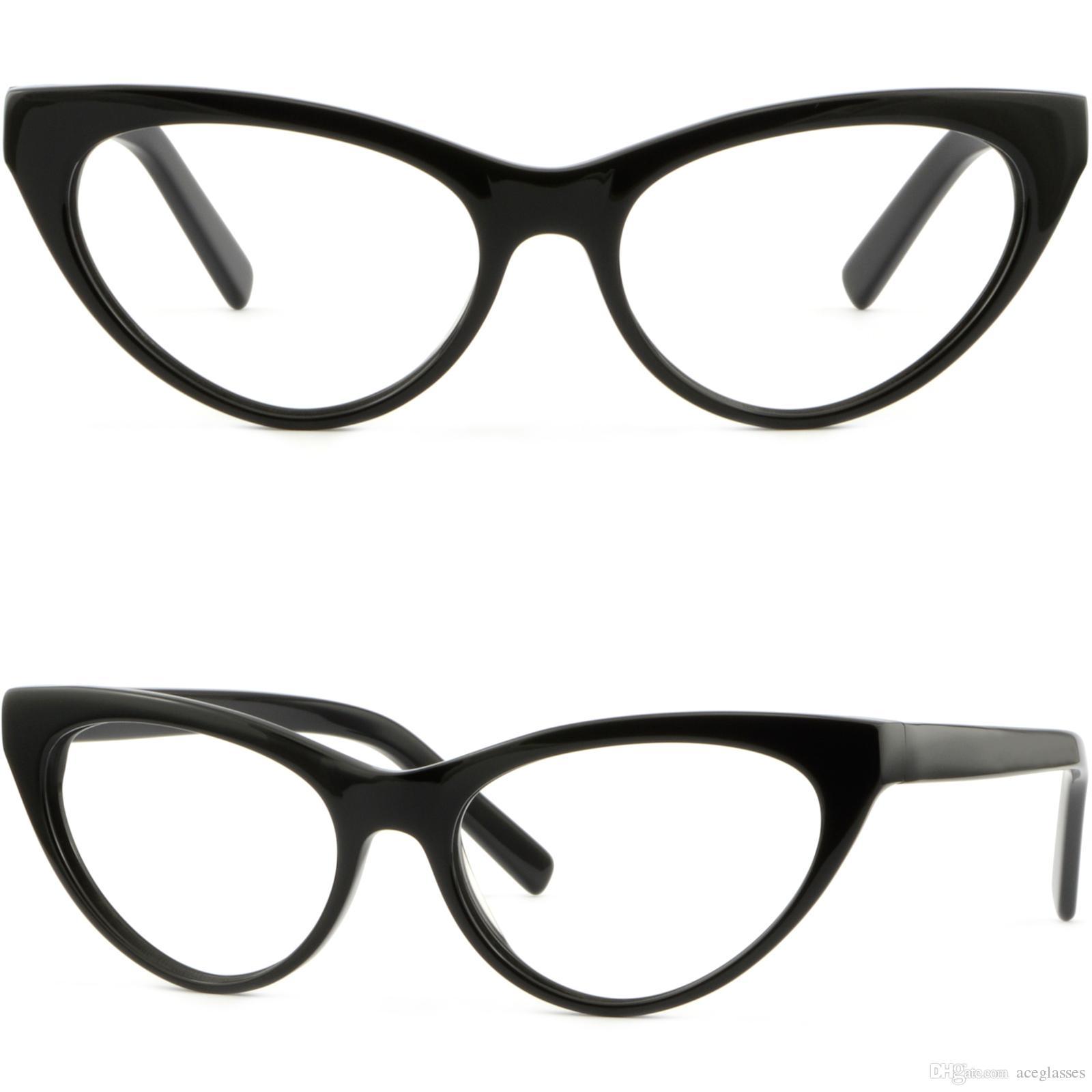 Women Cat Eye Plastic Acetate Frames Prescription Glasses Sunglasses ...