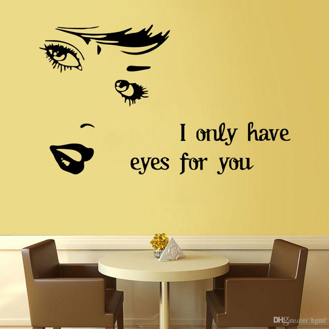 Art Wall Stickers I Only Have Eyes For You Diy Home Decorations Wall ...