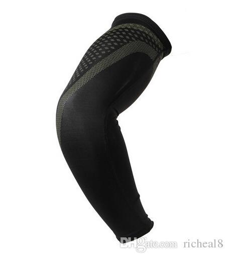2015 DHL shipping Elite arm sleeve Nylon Compression Arm Sleeve Basketball Golf Baseball and Sun Protection Elbow Pad Protective Wholesale