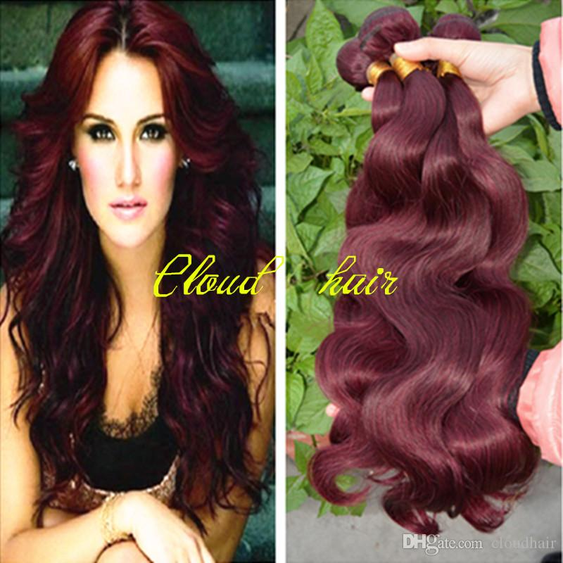 99j red wine burgundy hair extensions unprocessed brazilian body free shipping 3pcslot 99j red wine burgundy hair extensions unprocessed brazilian body wave wavy virgin human hair weave wefts bundles pmusecretfo Image collections