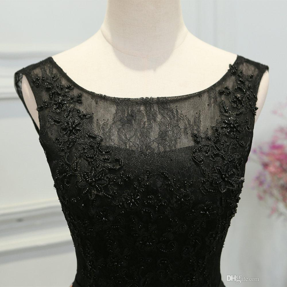 Jane Vini 2018 Black Floral Prom Dresses Long Beaded Lace Evening Gowns A Line Sleeveless Girls Flowers Pattern Satin Dinner Party Dress