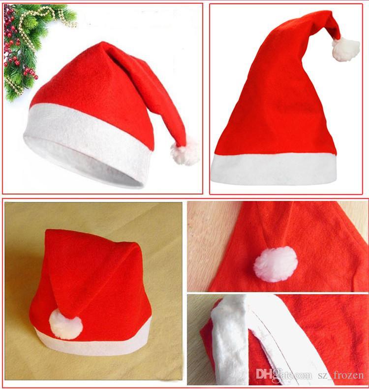 Christmas Decoration hats Santa's hat High-grade Christmas hat/Santa Claus hat Cute adults Christmas Cosplay Hats A-0237
