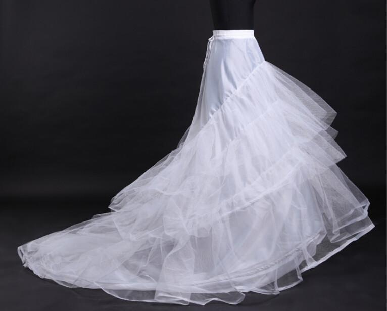 Cheap white tulle wedding dresses petticoat train for Tulle petticoat for wedding dress