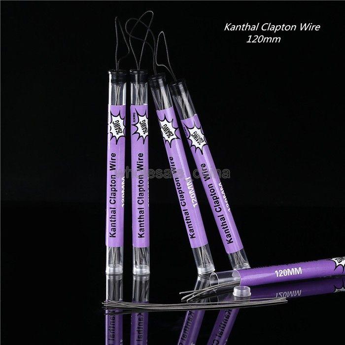 Sigarette Clapton Wire E Sigarette termiche Tubi prefabbricati controllo della temperatura della confezione tubi 22AWG 24AWG 26AWG Bobine fai-da-te confezionate singolarmente