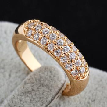 58b304ce5221b 2016 new design girls Plated 18K rose Gold zircon crystal wedding rings  minimalist for women dress gem jewelry R020