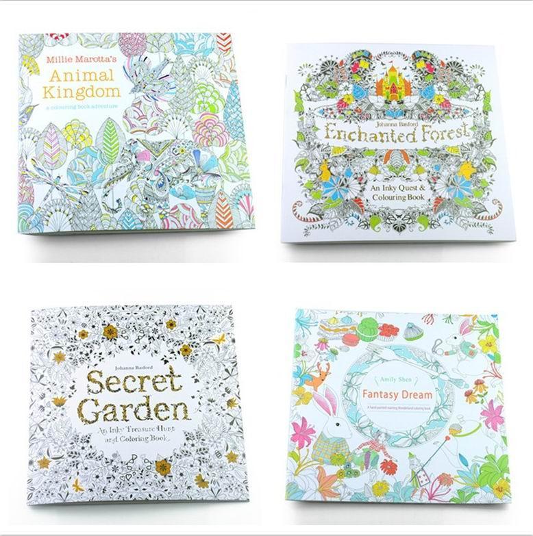 Adult Coloring Books Animal Kingdom Secret Garden Enchanted Forest
