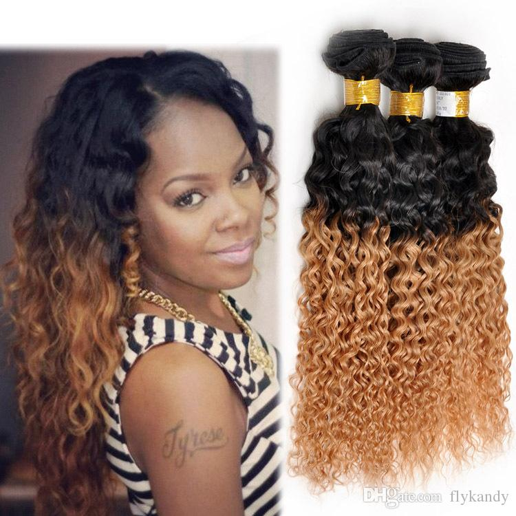 Cheap elegant kinky curly ombre hair extensions high grade indian elegant kinky curly ombre hair extensions high grade indian virgin deep wave two tone colored 1b urmus Images