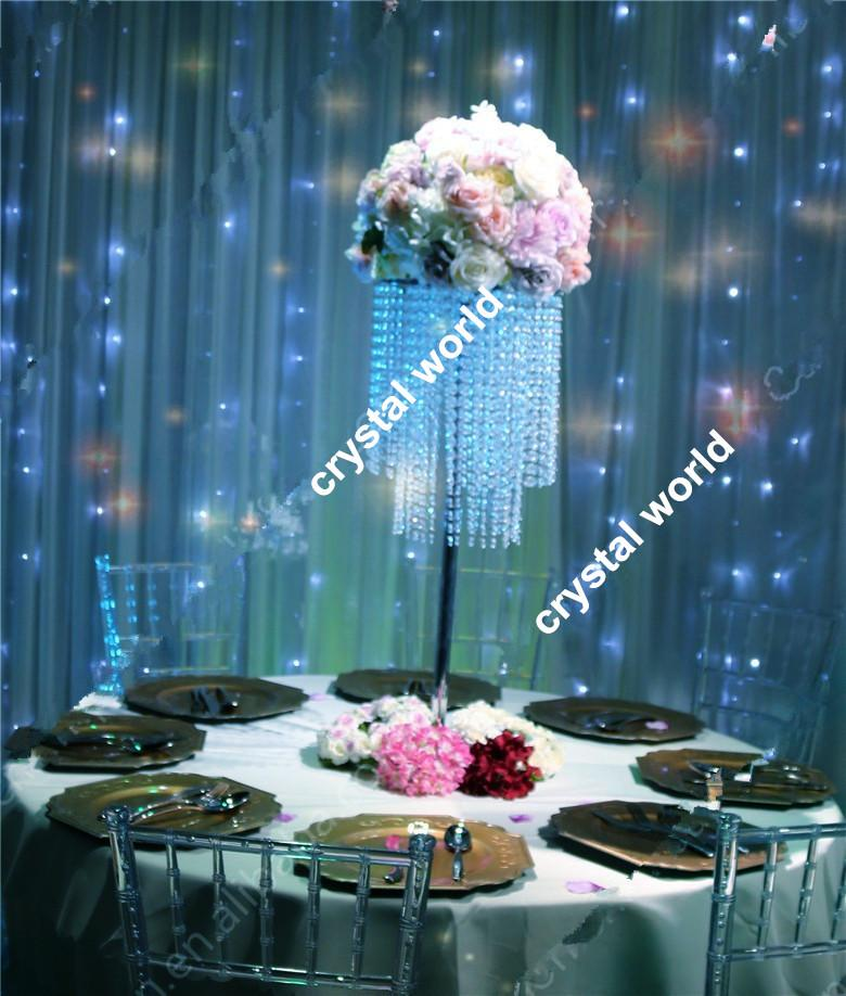Кристалл 76 акриловые центральные для свадебного стола, подставка из искусственных цветов для украшения свадебного стола