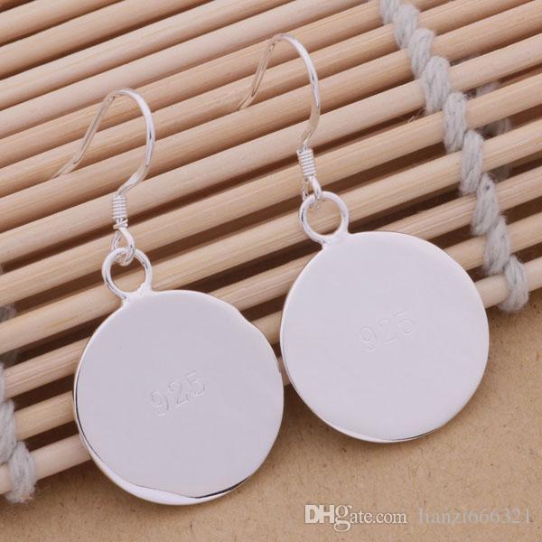Мода производитель ювелирных изделий 40 шт. много гладкий диск серьги стерлингового серебра 925 пробы цена завода мода блеск серьги