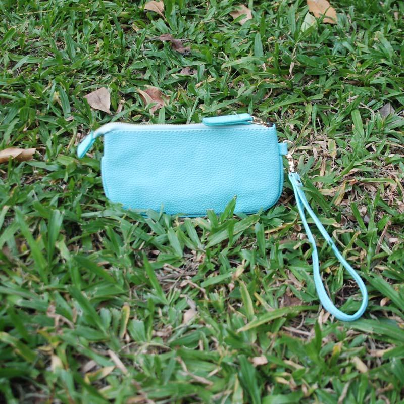 PU Wristlet Pouch Bag Atacado Blanks Mini Carteira Pode Tirar Cores Personalizadas Pouco Coin Purse De DOMIL106230