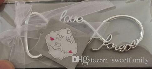 Newest Forever Love Chrome Beer Bottle Opener Wedding Favors and Gifts Opener for Guests Party Supplier Bridal Shower