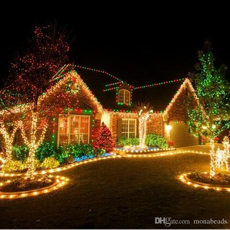led string light 10m waterproof 220v led holiday string lighting christmas lights party outdoor decoration christmas ornaments cheap christmas ornaments