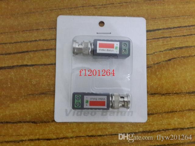 100 pçs / lote frete grátis torcida BNC vídeo balun transceptores UTP Balun Cat5 CCTV UTP vídeo Balun adaptador