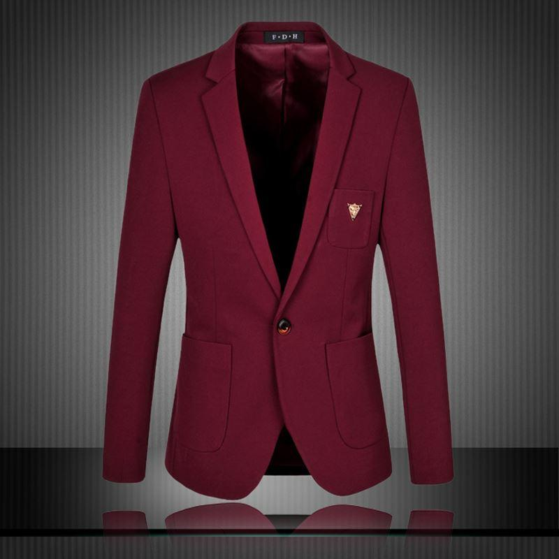 2019 Mens Blazer 2016 New Suits Jacket For Men Solid Color Blazer