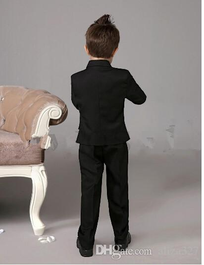 Suits cool Boys Tuxedo With Black Bow Tie kids formal dress boys suits fashion kids suits of jacket + pants custom made