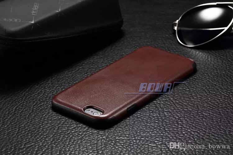 4.7 '' 5.5 '' inç Lüks deri kılıf sert PU kılıf iphone 6g Apple 6 iphone artı cep telefonu kılıfı DHL Fedex hızlı kargo