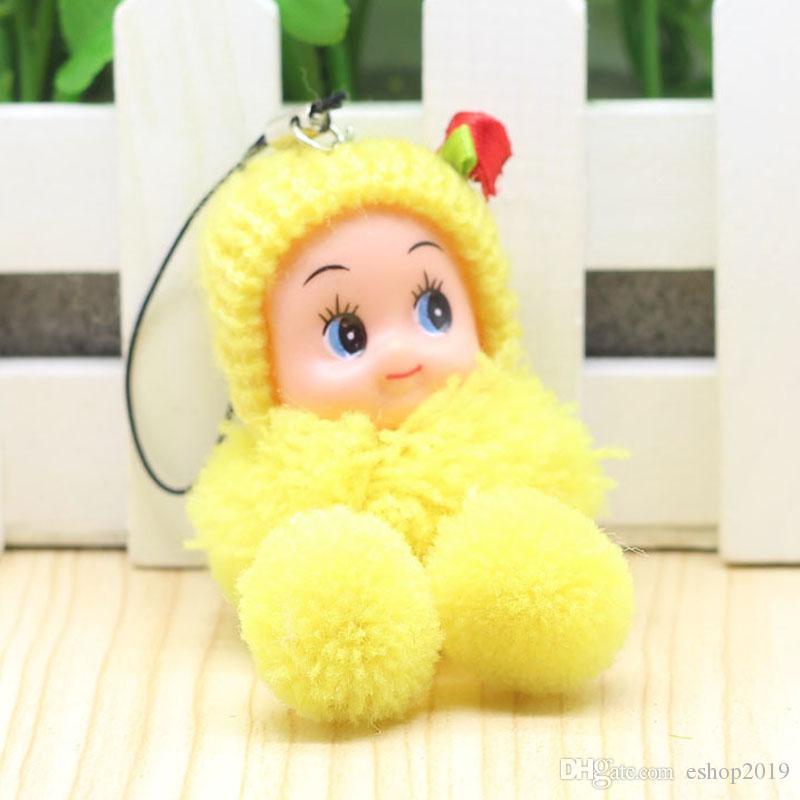 판매 8cm의 격자 무늬의 광대 소녀를위한 당기 당당한 아기 인형 Nanette 펜던트 선물 전체 휴대 전화 액세서리 미니어처 컵 옷걸이 인형 집