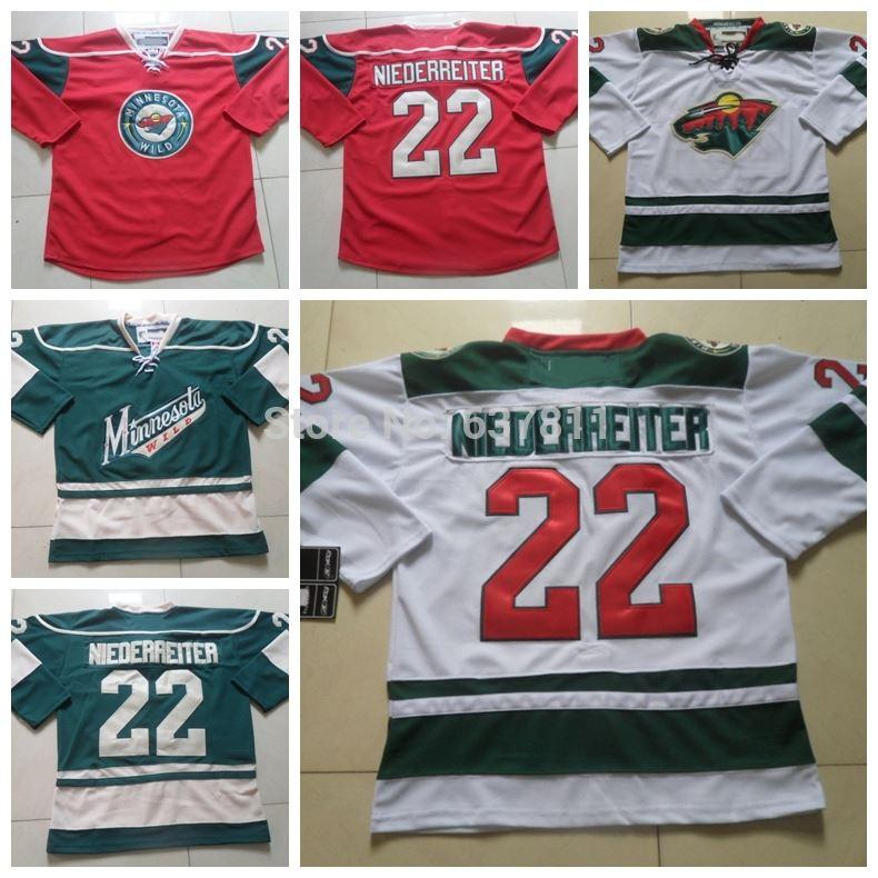 45a98fe5ec2 2019 2018 Custom Minnesota Wild Hockey 22 Nino Niederreiter Home Red White Green  Nino Niederreiter Stitched Jerseys Men Women Youth From Cn Sell