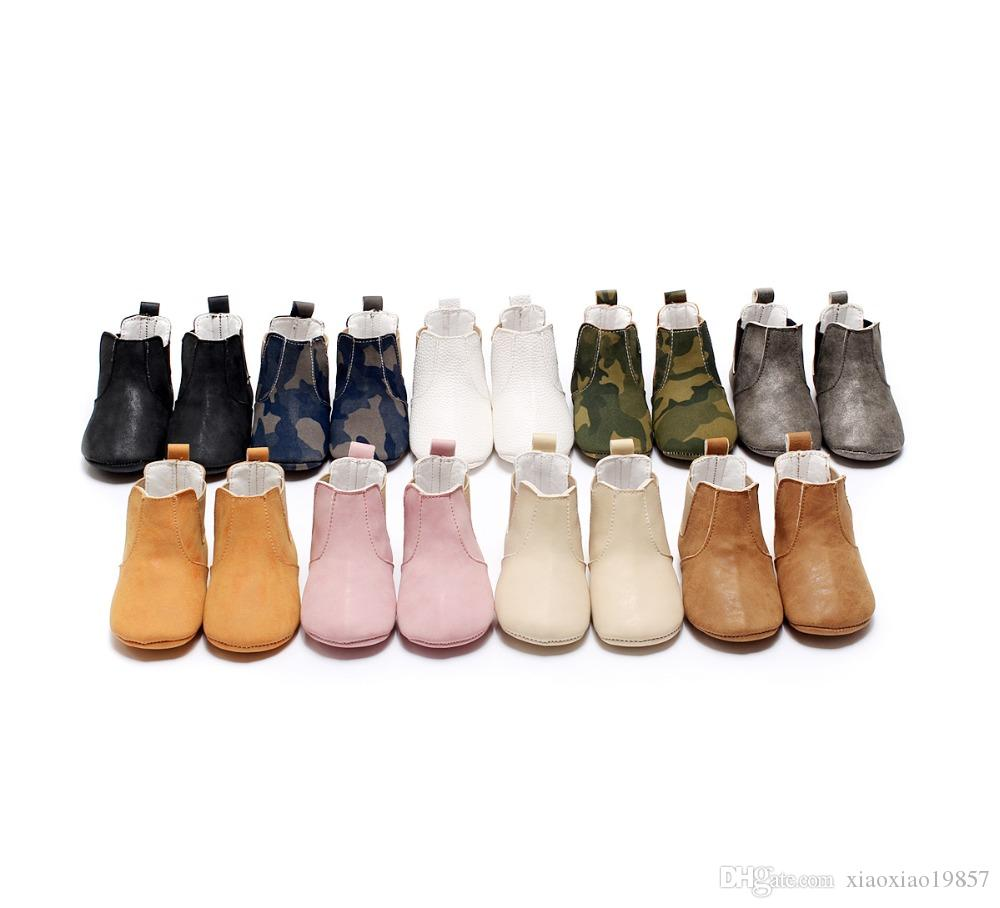 Lovely Baby Boots 2017 New Cute Baby Moccasins Handmade Infants Boot soft sole baby sneakers