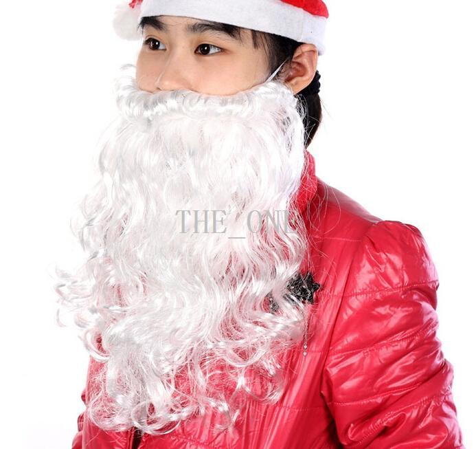 Santa Christmas Beard and Moustache White Father Men/'s Xmas Fancy Dress Old Man