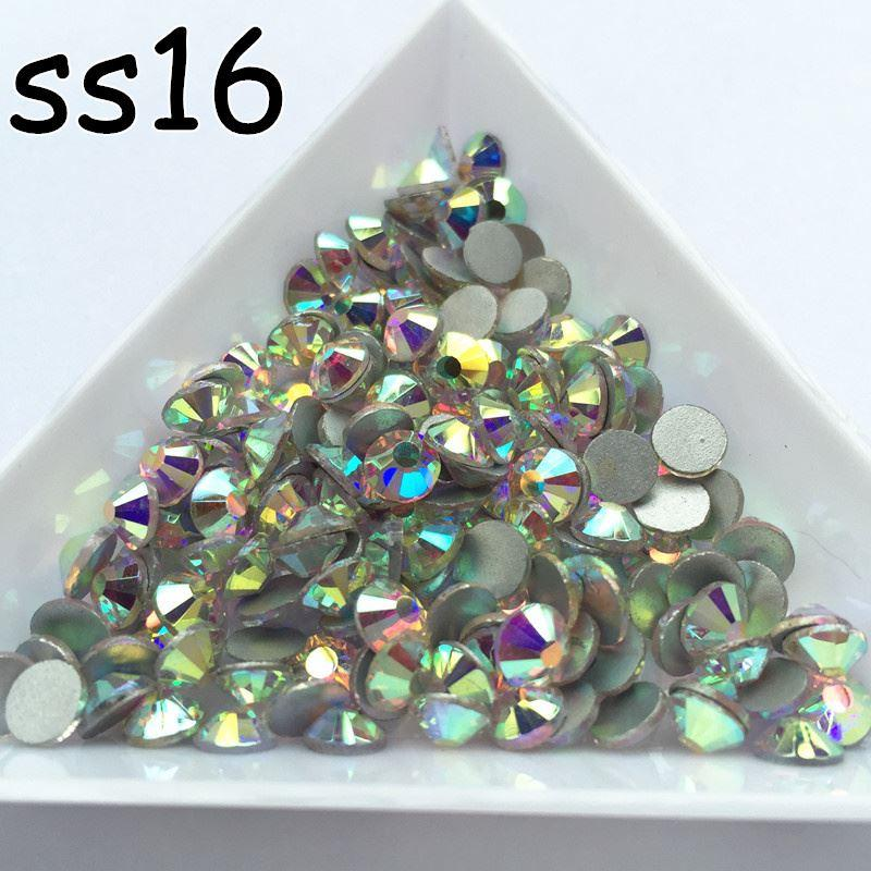 Clear White Ss16 Point Back Rhinestones Gems Glass Chatons Strass Nail Art Superior Materials Ebay Motors