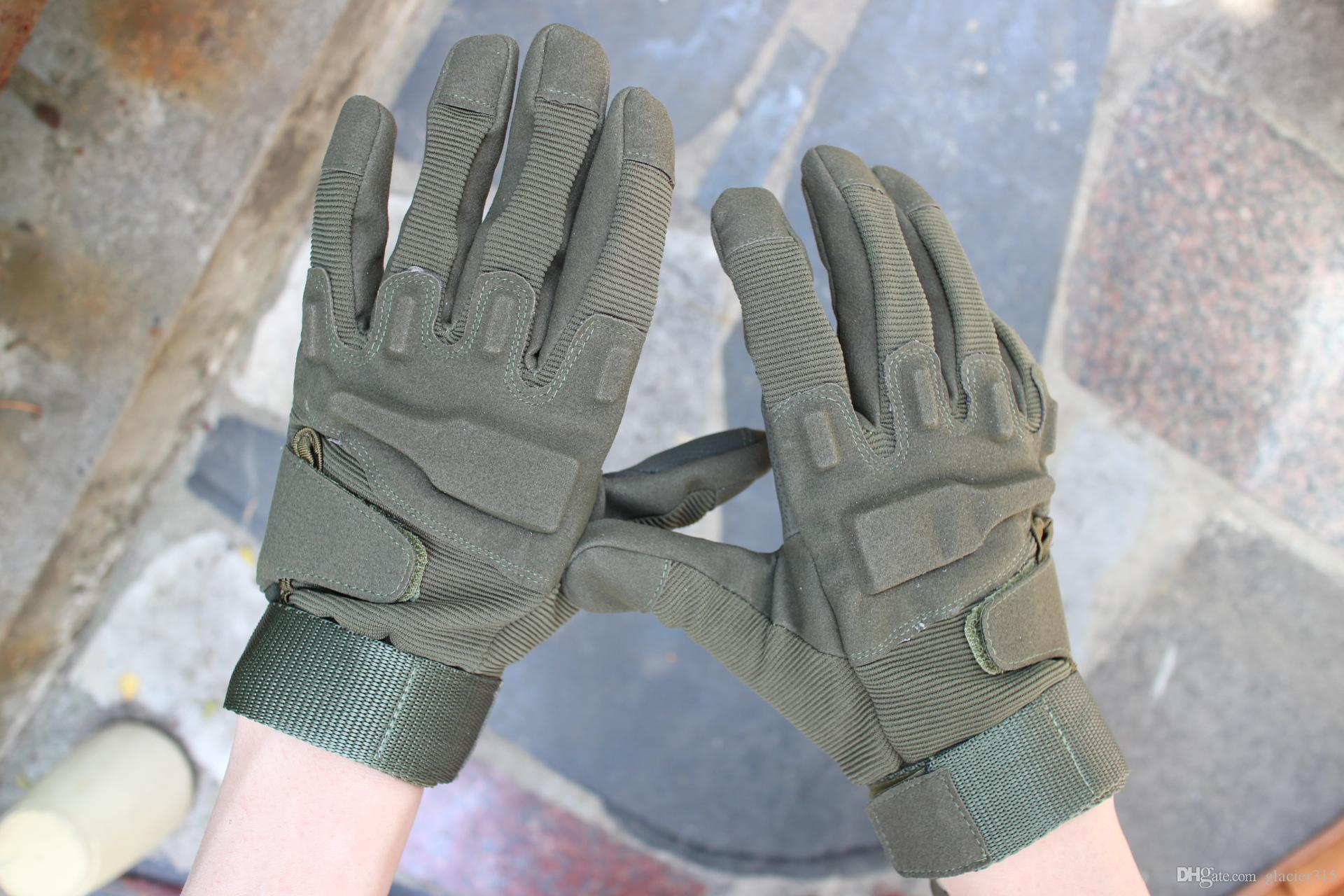 Envío gratis 1 par Nueva venta Full finger Tactical Weather Shooting Militar Ciclismo caza Camping Deporte Juego exterior Guantes