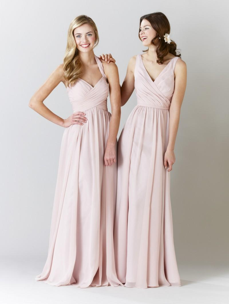 Custom blush pink chiffon long bridesmaid dresses 2015 new pleats custom blush pink chiffon long bridesmaid dresses 2015 new pleats halter cheap wedding party gowns backless zipper floor length prom dresses unusual ombrellifo Gallery