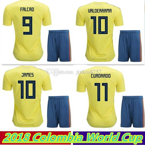2018 2018 World Cup Colombia Soccer Jerseys. Thai Quality Falcao Home Away  Football Shirt James Cuadrad Aguilar Guarin C.Sanchez Football Kits From ... 51d801f06