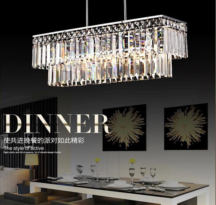 Discount 65*19*62cm Rectangle Crystal Pendant Light Polished Chrome Pipe Erected Ceiling L& Restaurant Dining Room Modern Restaurant Chandelier Lantern ... & Discount 65*19*62cm Rectangle Crystal Pendant Light Polished ... azcodes.com