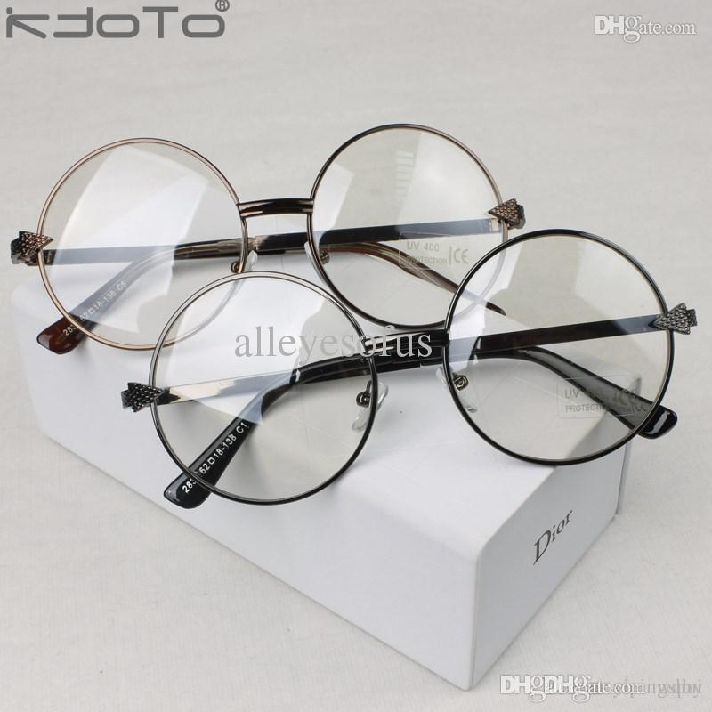 2018 New Vintage Metal Round Glasses Arrow Gold Circle Big Frame ...