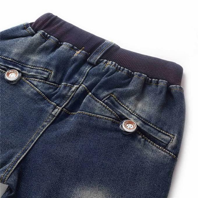 Brand Retail Hot Sale Boys Denim Jeans With Fashion Beads Decoration Boys Pants Wholesale Kids Clothing PT81016-3