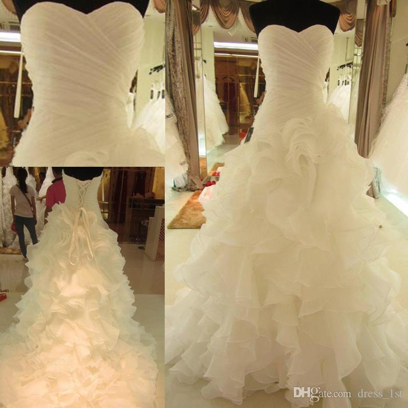 Non Traditional Wedding Dresses With Color: Discount White Puffy Wedding Dress A Line 2016 Sweetheart