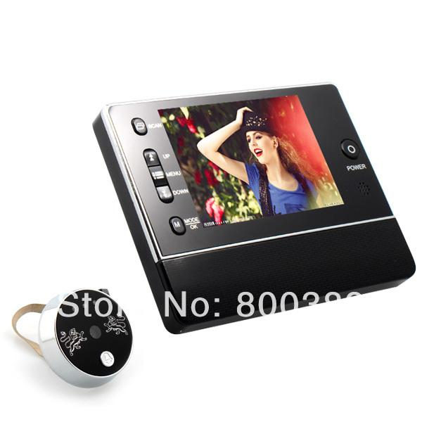 3.5 inch TFT LCD Screen Door Viewer Phone System Night Vision + Take Picture + Video Record Doorbell Rings IR CMOS 3XZoom Camera