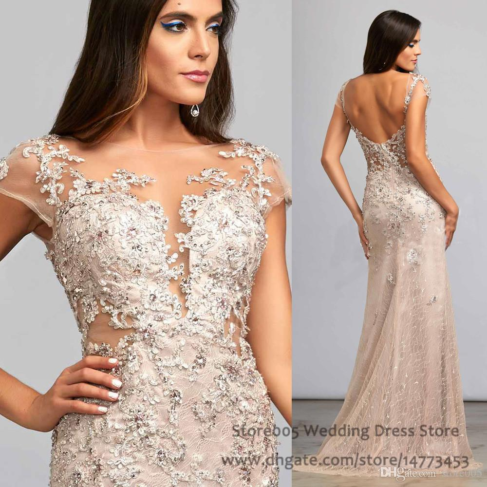Sexy Champagne Elegant Evening Gowns Dubai Abaya Haute Couture ...